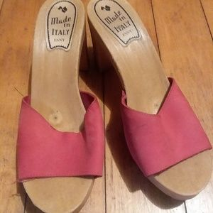4cce7a41c ESNY Shoes - ESNY WOODEN Sandals. Nubuck. Size 9 40.